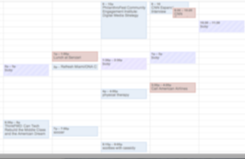 Productivity hack: Clustering meetings